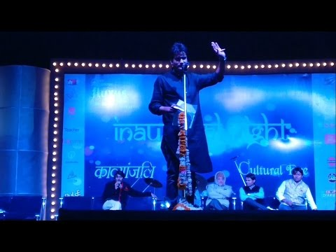 Kavyanjali Kavi Sammelan Fluxus 2017 IIT Indore with Kavi Avadhesh Kumar Sharma 'Dhruv'