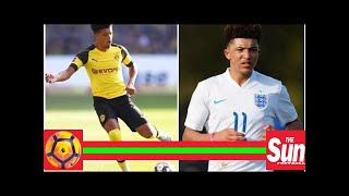 Jadon Sancho: The England new boy won't be fazed as he trains with the first team squad for the fir