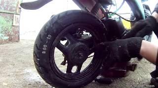 видео Как снять заднее колесо на скутере