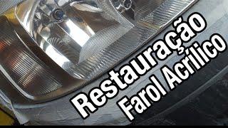 Faça você mesmo - Restauração Farol Acrilico (Novo Corsa)