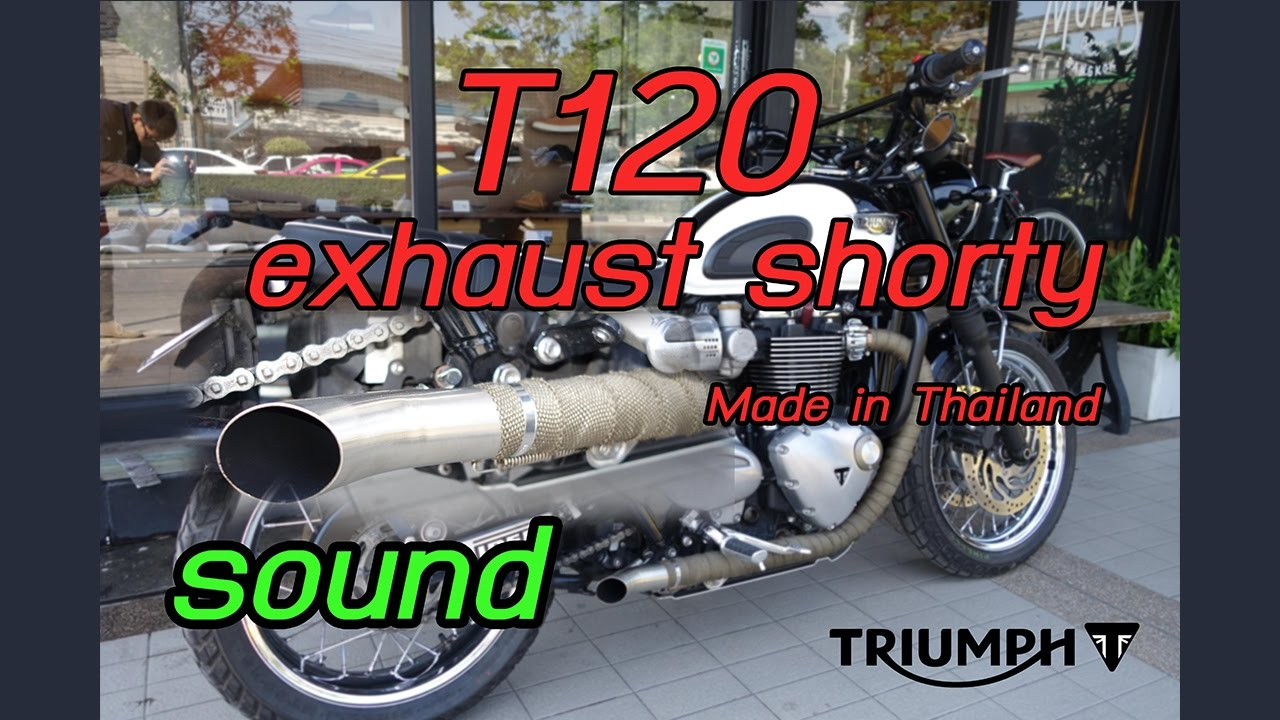 Triumph Bonneville T120 Exhaust Shorty Sound Made In Thailand