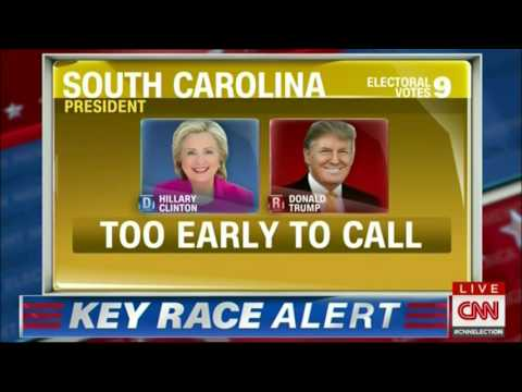 CNN Election Night in America 2016 - FIRST CNN PROJECTIONS