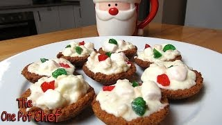 White Christmas Chocolate Tartlets | One Pot Chef