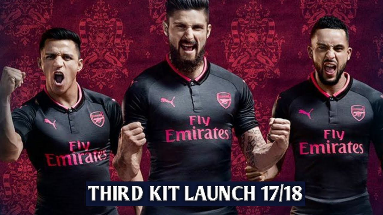 5a409fe17 ARSENAL THIRD KIT OFFICIAL LAUNCH ○ 2017-18 ○ - YouTube