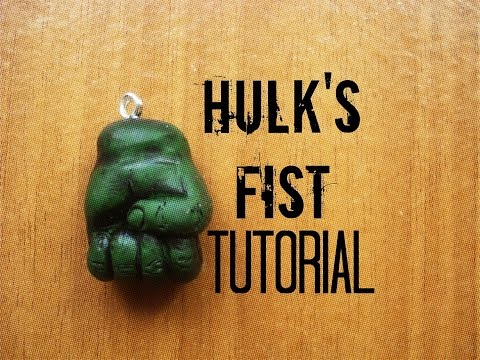 Hulk's fist / hand polymer clay tutorial - The avangers