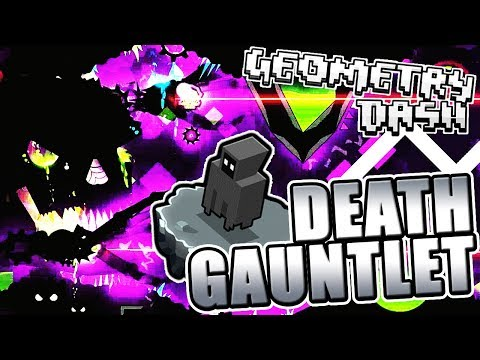 DIFFICULT! ~ Geometry Dash 2.11 DEATH GAUNTLET All Levels COMPLETE