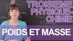 Poids et masse - Physique-Chimie - 3e - Les Bons Profs