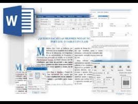 Como agregar interlineado, dividir el texto en columnas e insertar letra capital en Word thumbnail