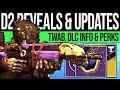 Destiny 2 | DLC NEWS UPDATE! Fall Reveals, Necrochasm Secret, TWAB, New Hotfix & Blind Well Fix!