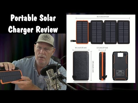 FEELLE Solar Charger 25000mAh Waterproof Solar Power Bank Portable Charger Review
