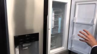 lg gs9366aeav american style side by side fridge freezer
