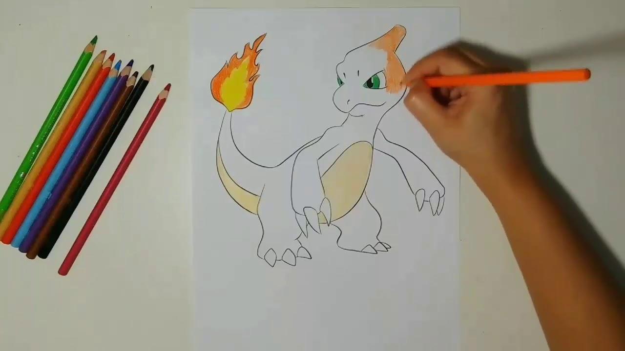 Semana Pokemon Vamos Colorir O Charmeleon Pokemon Week Let S