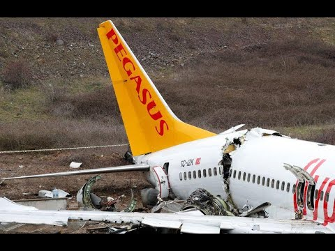 Plane skids off runway in Istanbul, killing three and injuring 179