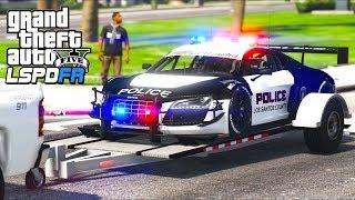 GTA 5 - LSPDFR Ep382 - Picking Up Audi R8 Police Car & Chasing Criminals!!