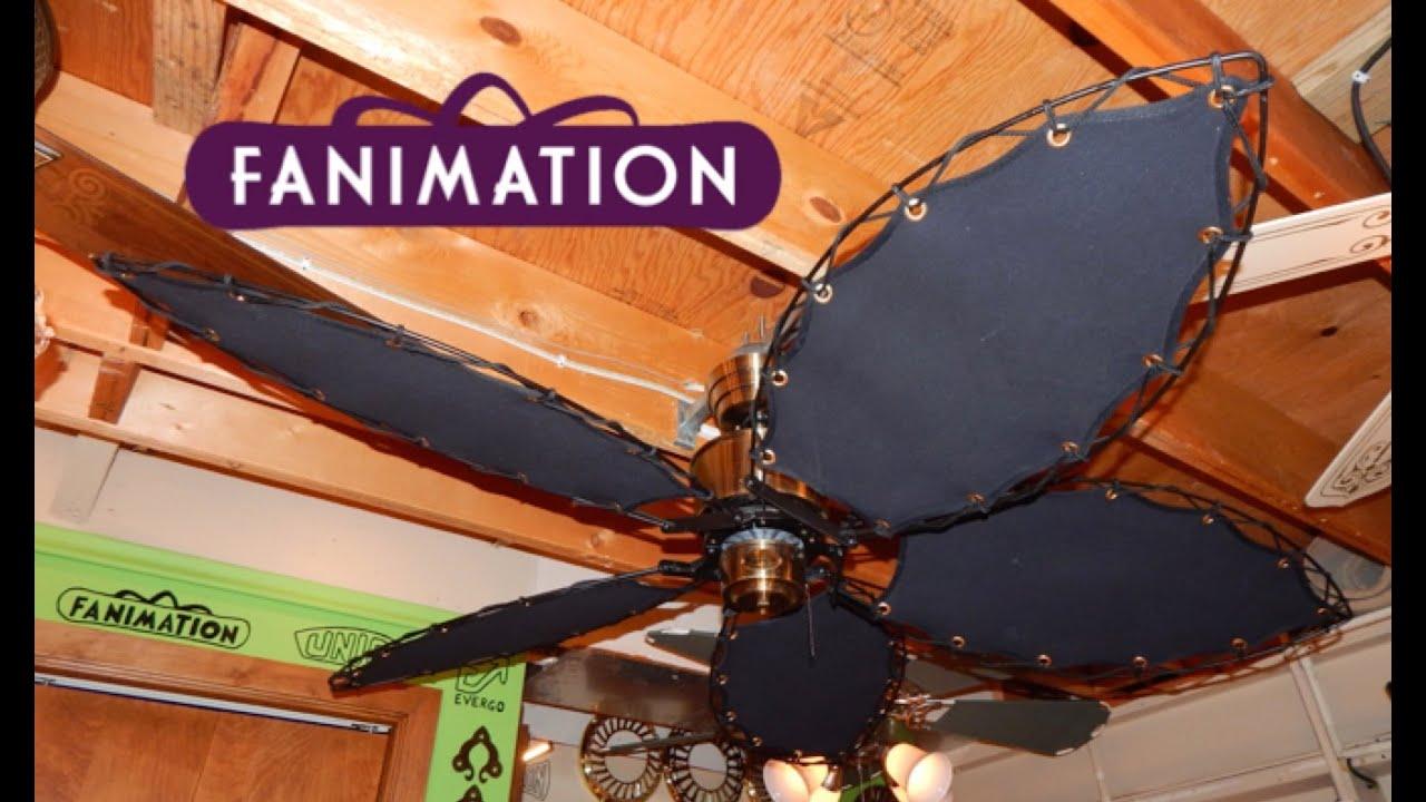 Fanimation Islander Ceiling Fan Canvas Blades Youtube