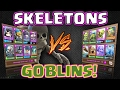 Clash Royale SKELETON DECK V s GOBLIN DECK Who WINS Closest ever