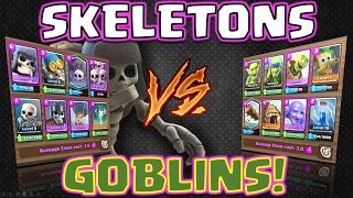 Clash Royale - *SKELETON DECK V's GOBLIN DECK!* Who WINS?! (Closest ever!)