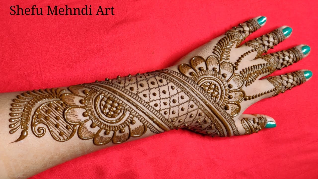 full hand arabic mehndi design easy and beautiful