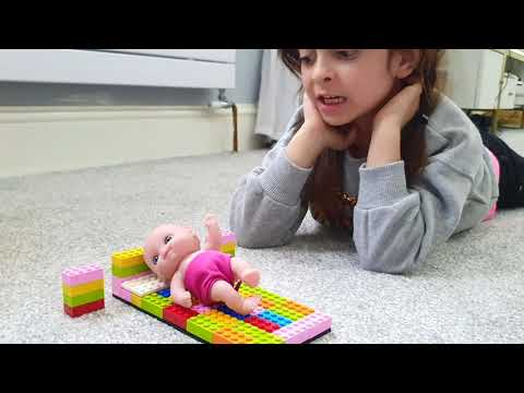 My Lego Bed - Playing with Giant LEGO Blocks