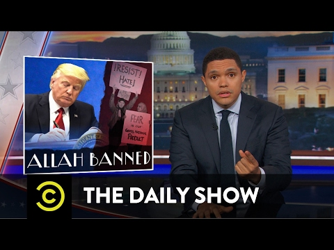 Thumbnail: President Trump's Muslim-Targeted Travel Ban: The Daily Show