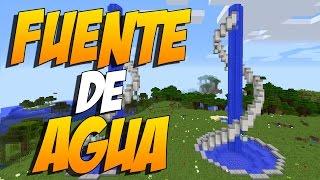 COMO HACER UNA FUENTE DE AGUA MODERNA - Construccion En Minecraft