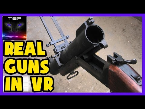 REAL GUNS in Virtual Reality with HTC Vive