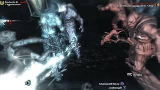 Mordors Schatten PS4 - Hinrichtung Kugaluga Schreckensblick vs Flak Menschenbrecher Clip 1
