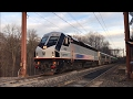 NJ Transit HD 60fps: Morristown Line Sunset Action @ Mount Tabor & Powder Mill Road (2/8/17)