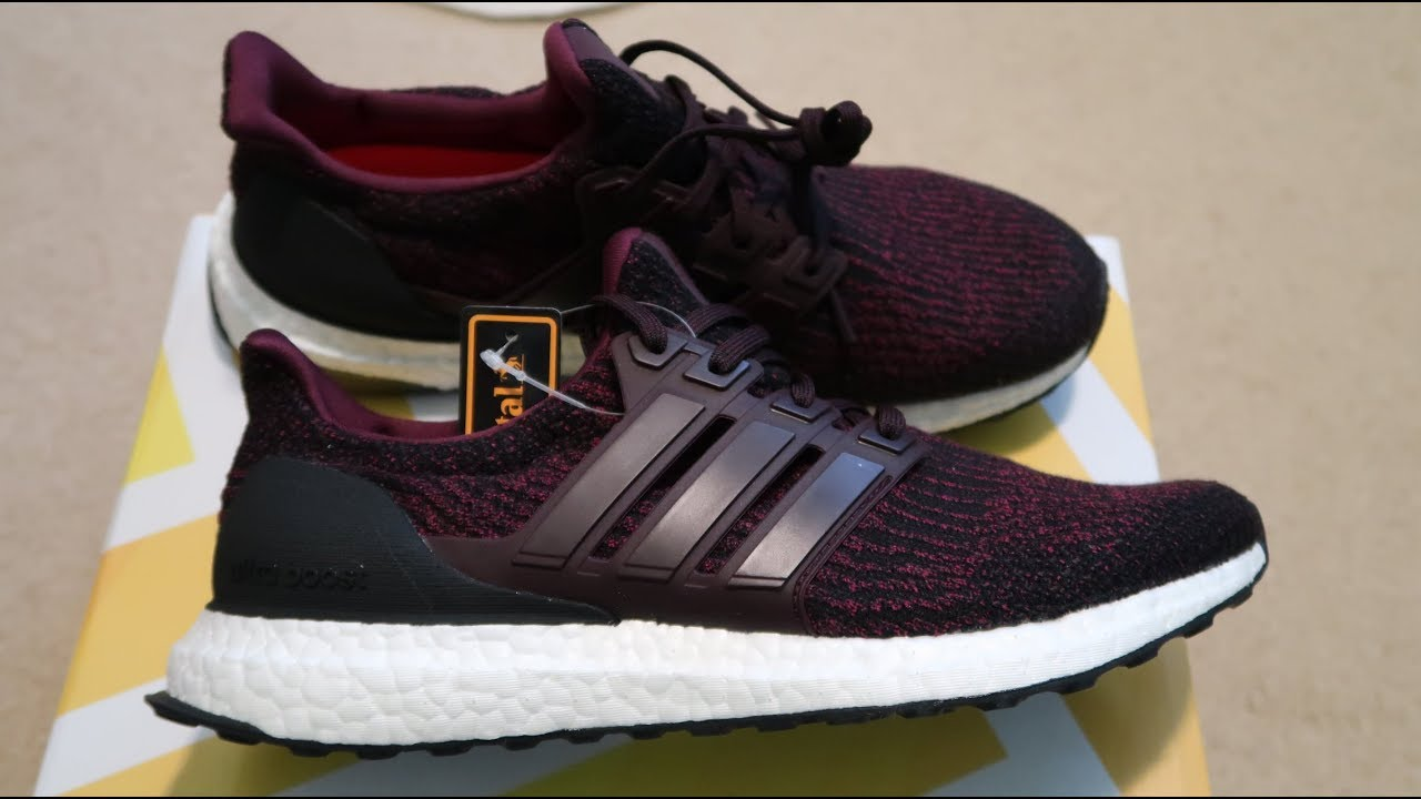 new arrival 080fc ea750 Adidas Ultra Boost 3.0  Dark Burgundy  Sneaker Unboxing