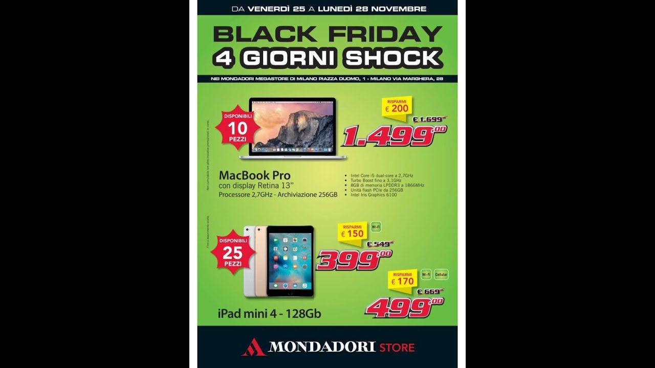 BLACK FRIDAY MONDADORI - OFFERTE VALIDE DA VENERDÌ 25 A