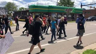 #BlackLivesMatter protesters take to the streets of Kalamazoo
