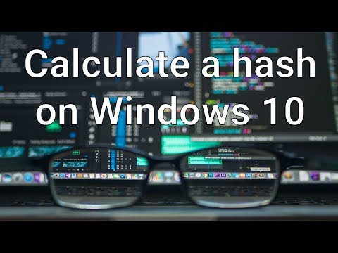 Calculate a hash on Windows 10 using the command line