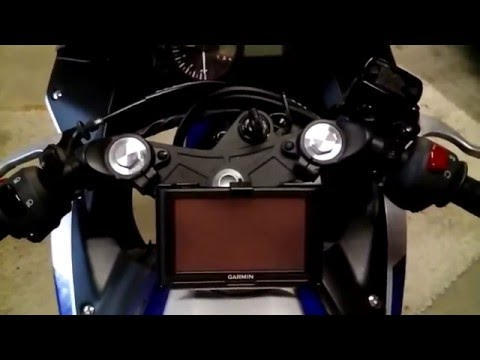 garmin gps with modified ram mount on yamaha r3 youtube