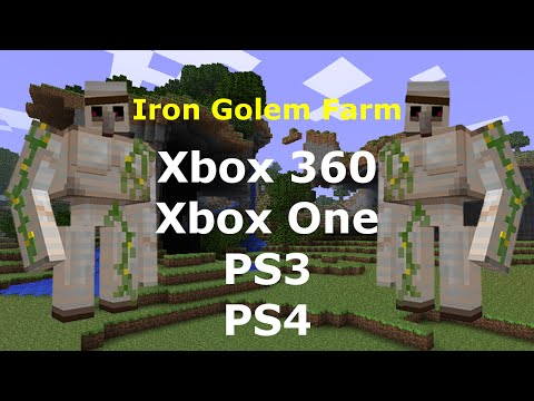 how to make a golem in minecraft xbox one