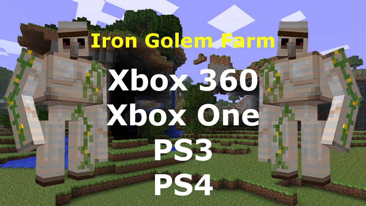 Iron Golem Farm (Tutorial) - Minecraft Xbox 10, Xbox One, PS10