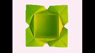 Easy Origami Plate (designer Carlos Aguilar). Gift Box. Great Ideas For Table Decor -  Easter
