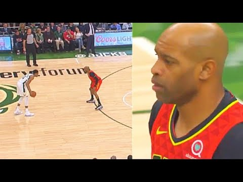 Giannis With No Respect For Elderly 42 Year Old Vince Carter With Bully Move! Bucks Vs Hawks