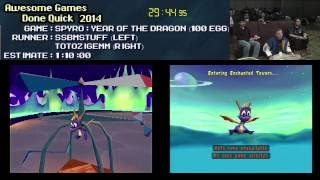 Spyro: Year of The Dragon :: SPEED RUN (100 Egg) (1:04:46) [PS1] ...