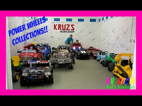 Thumbnail: Power Wheels Collections! Firetruck, Bulldozer, Police Car, Ford Truck, Corvette! Fun For The Kids!
