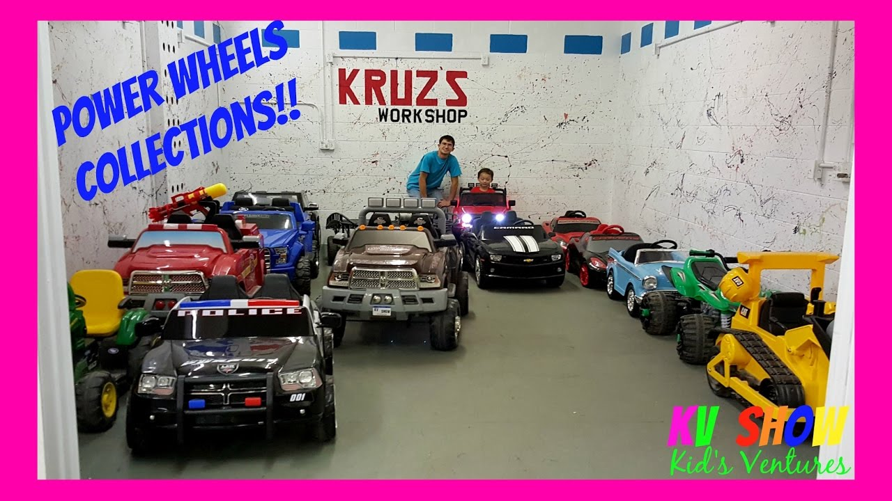 Power Wheels Collections! Firetruck, Bulldozer, Police Car