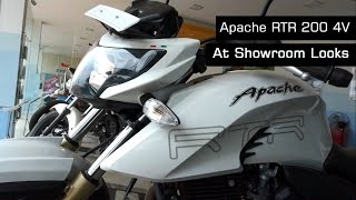 TVS Apache RTR 200 4V Review New Model White Color & Walk Around Video At Showroom | 2016 | India(Hi friends here the small and simple video for TVs apache rtr 200 4v white color the latest bike from indian makers , soon exhaust note video will upload , The ..., 2016-03-02T12:13:27.000Z)