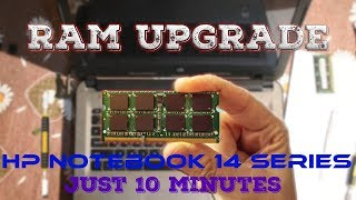 How To Upgrade / Install RAM in HP Notebook 14 series Laptop (HP 14-AC104NX)