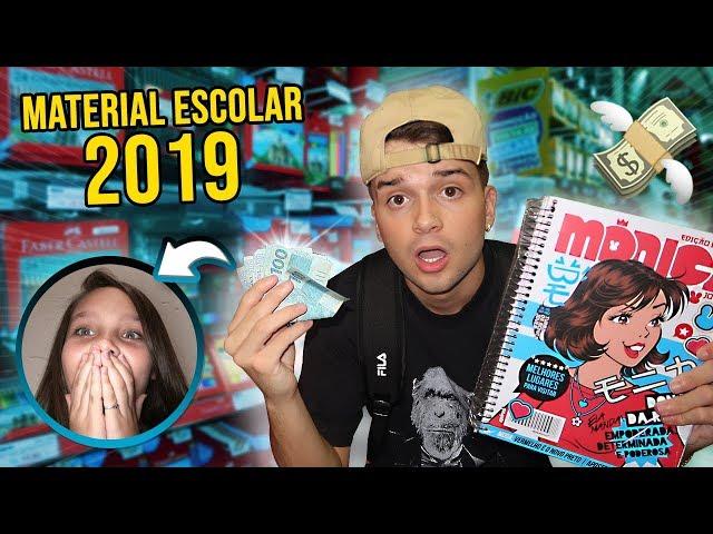 COMPREI 1000 REAIS EM MATERIAL ESCOLAR 2019 PARA MINHA IRMÃZINHA