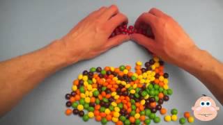 Learn Colours with Surprise Eggs and Skittles Picture Rainbow! Learning Colors Fun!