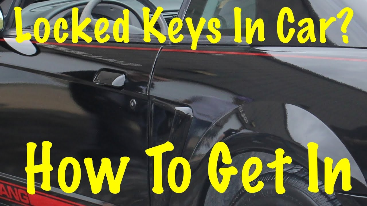 How To Unlock A Car Without Keys Youtube