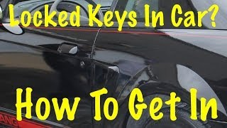 How To Unlock A Car Without Keys
