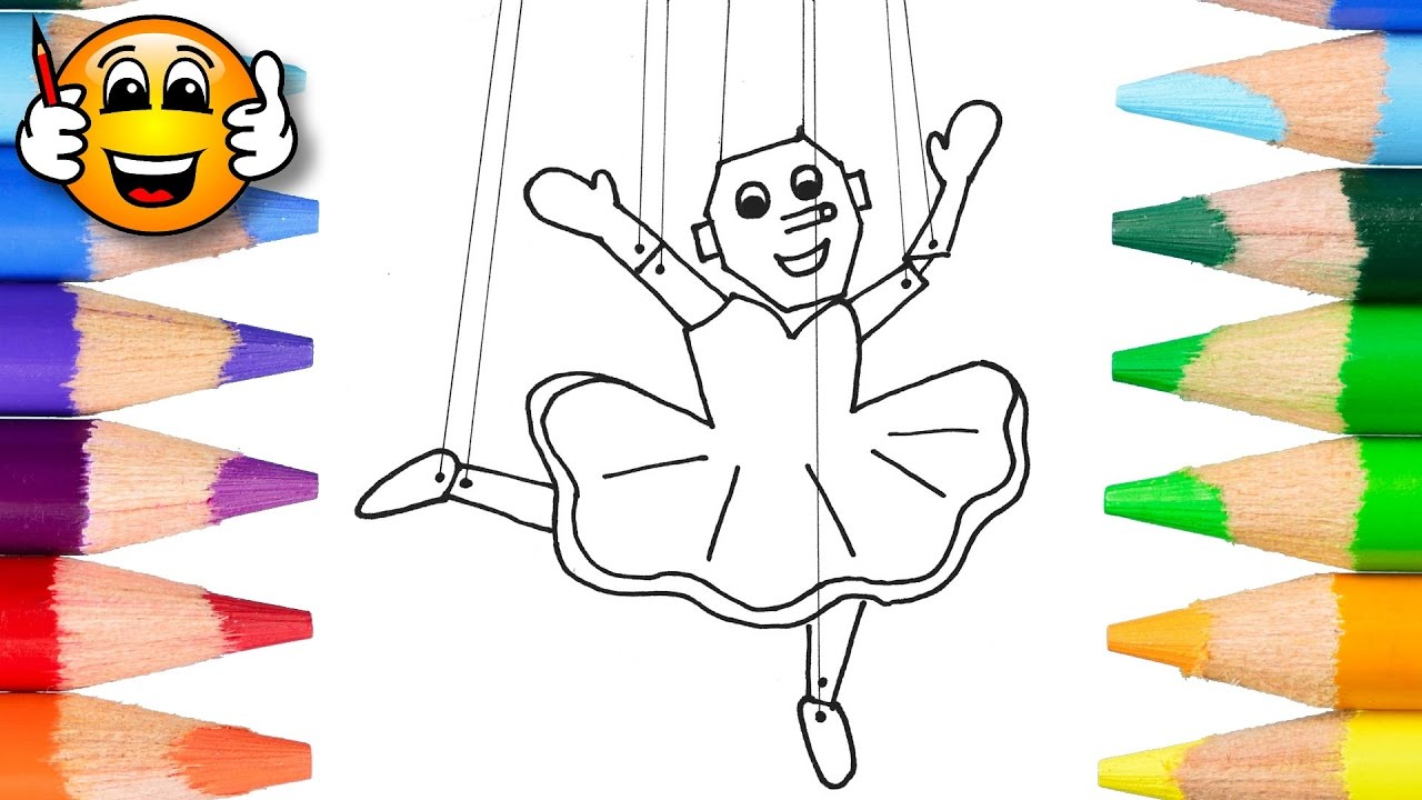 coloring pages for kids baby ballerina puppet coloring for kids