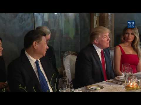 President Trump and the First Lady have Dinner with President of China