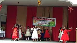 Chanda chamake chamcham cheekhe jo .....Dance in om public school