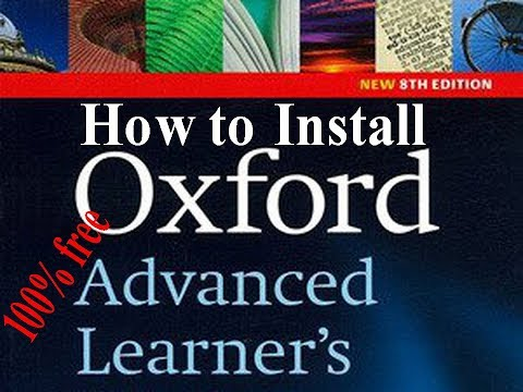 How To Install Oxford Advanced Learner's Dictionary 8th Edition For PC 100% Free 2018